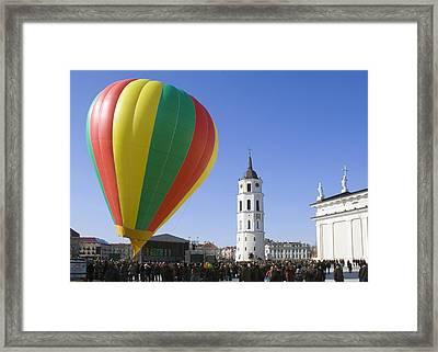 Framed Print featuring the photograph Vilnius  March 11 by Aleksandr Volkov