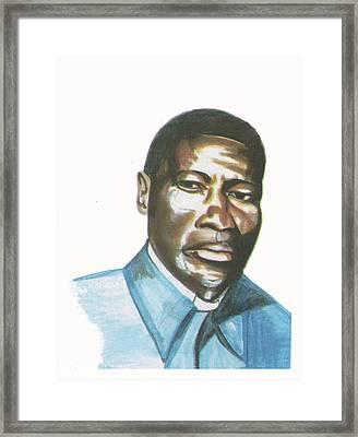 Vincent Mulago Framed Print by Emmanuel Baliyanga
