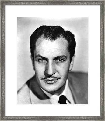 Vincent Price, Ca 1950s Framed Print by Everett