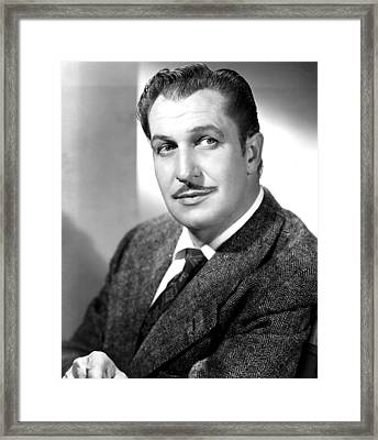 Vincent Price, Early 1950s Framed Print