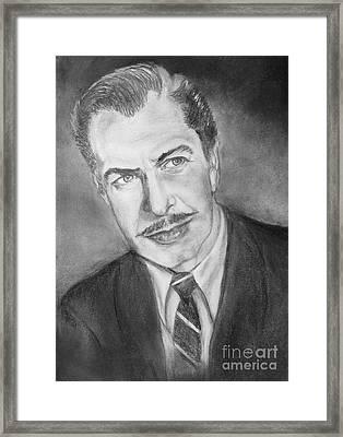 Vincent Price Framed Print by Elisabeth Dubois