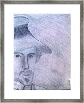 Vincent Van Gogh Drawing Framed Print by De Beall