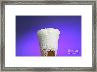 Vinegar & Baking Soda Experiment, 3 Or 3 Framed Print by Photo Researchers, Inc.