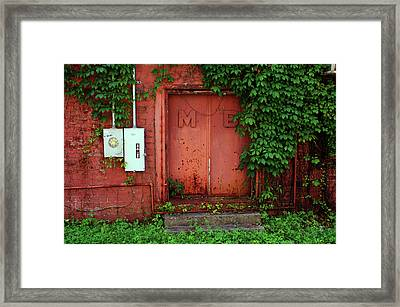 Framed Print featuring the photograph Vines Block The Door by Paul Mashburn