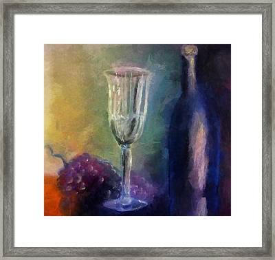 Vino Framed Print by Michelle Calkins