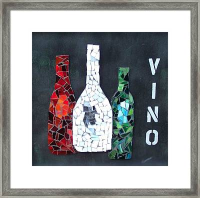Vino Framed Print by Nancy ELeGant