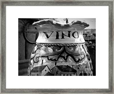 Vino Framed Print by Tanya  Searcy