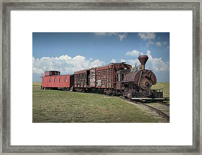 Vintage 1880 Locomotive Train No.1027 Framed Print by Randall Nyhof