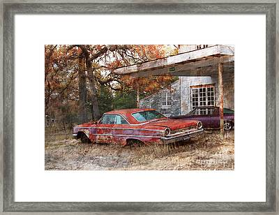 Vintage 1950 1960 Ford Galaxy Red Car Photo Framed Print by Svetlana Novikova