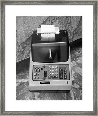 Vintage Adding Machine Framed Print by George Marks
