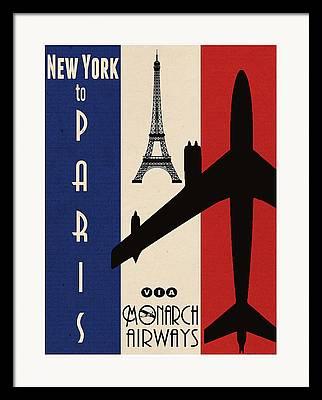 Air Travel Framed Prints