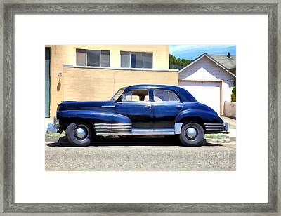 Vintage America . Chevrolet Fleetline . 5d16719 Framed Print by Wingsdomain Art and Photography