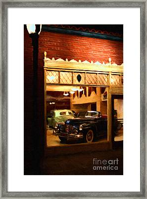 Vintage American Car Dealership - 7d17398 Framed Print by Wingsdomain Art and Photography