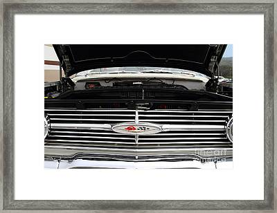 Vintage American Chevrolet Emblem And Grille 7d15159 Framed Print by Wingsdomain Art and Photography