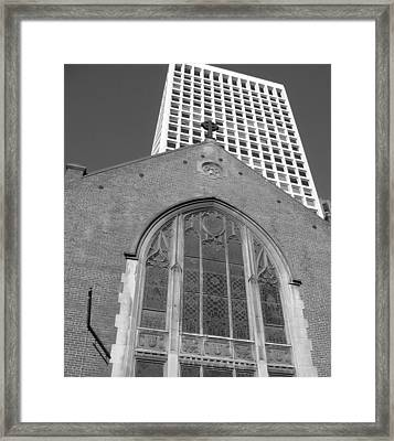Vintage And Modern - San Francisco Bw 2009 Framed Print by Connie Fox