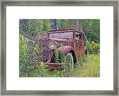 Framed Print featuring the photograph Vintage Automobile by Susan Leggett
