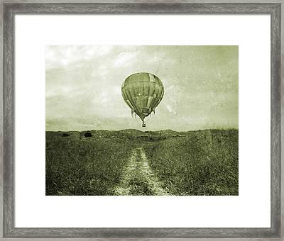 Vintage Ballooning Framed Print by Betsy Knapp