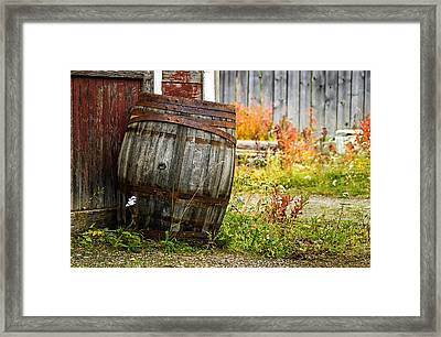 Vintage Barrel Framed Print