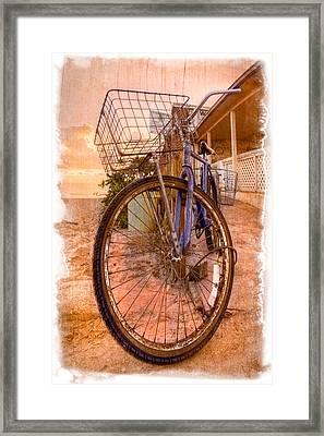Vintage  Bicycle Framed Print by Debra and Dave Vanderlaan
