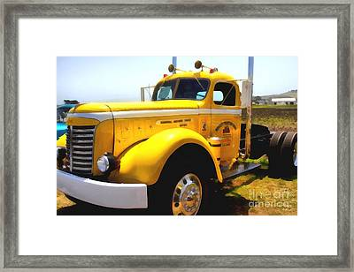 Vintage Big Rig . 7d15483 Framed Print by Wingsdomain Art and Photography