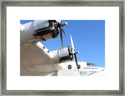 Vintage Boac British Overseas Airways Corporation Speedbird Flying Boat . 7d11265 Framed Print by Wingsdomain Art and Photography