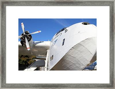 Vintage Boac British Overseas Airways Corporation Speedbird Flying Boat . 7d11273 Framed Print by Wingsdomain Art and Photography