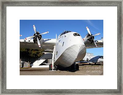 Vintage Boac British Overseas Airways Corporation Speedbird Flying Boat . 7d11275 Framed Print by Wingsdomain Art and Photography