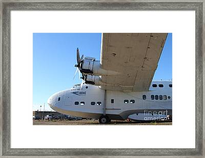 Vintage Boac British Overseas Airways Corporation Speedbird Flying Boat . 7d11291 Framed Print by Wingsdomain Art and Photography