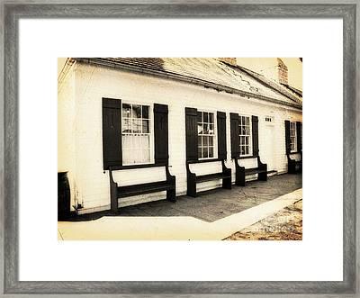Vintage Building 2 Framed Print by Emily Kelley