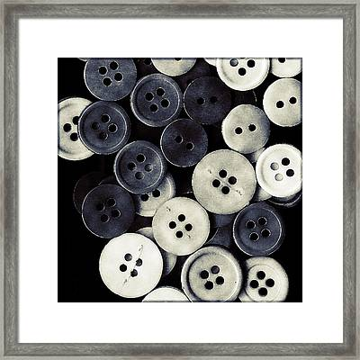 Vintage Buttons Framed Print by Bonnie Bruno