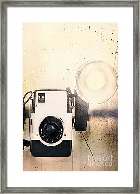 Vintage Camera Framed Print by Stephanie Frey