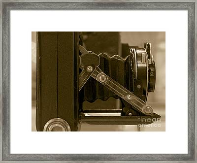 Vintage Camera With Bellows Framed Print
