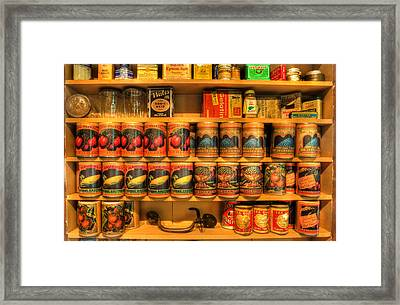 Vintage Canned Goods - General Store Vintage Supplies - Nostalgia Framed Print by Lee Dos Santos