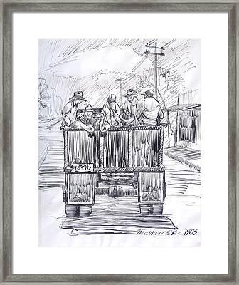 Vintage Car Pool Framed Print by Bill Joseph  Markowski