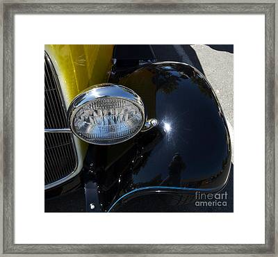 Vintage Car Reflection Framed Print