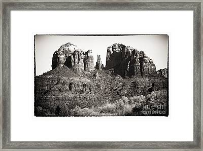 Vintage Cathedral Rock Framed Print by John Rizzuto