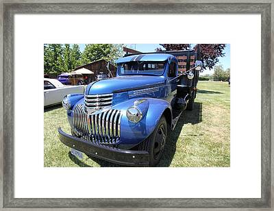 Vintage Chevrolet Delivery Truck . 5d16669 Framed Print by Wingsdomain Art and Photography