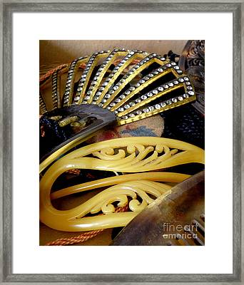 Vintage Combs And Barrettes Framed Print by Lainie Wrightson
