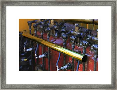 Vintage Combustion Engine Framed Print by Scott Hovind