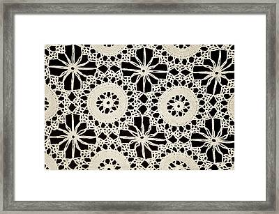 Vintage Crocheted Doily Framed Print