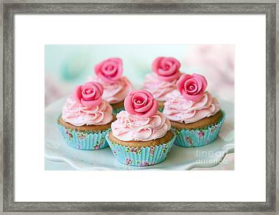 Vintage Cupcakes Framed Print