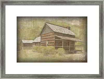 Vintage Davis House Framed Print by Bob and Nancy Kendrick