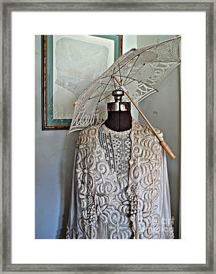 Vintage Fashion Framed Print by Louise Peardon
