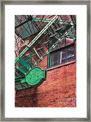 Framed Print featuring the photograph Vintage Fire Escape by Lawrence Burry