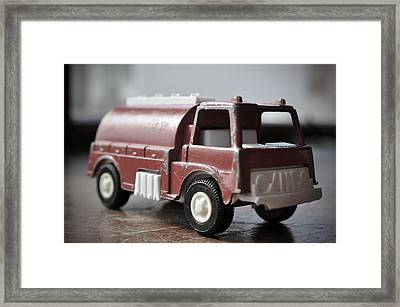 Vintage Fire Truck 2 Framed Print by Kathy Schumann