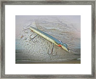 Vintage Fishing Lure - Floyd Roman Nike Lil Sandee Framed Print by Mother Nature