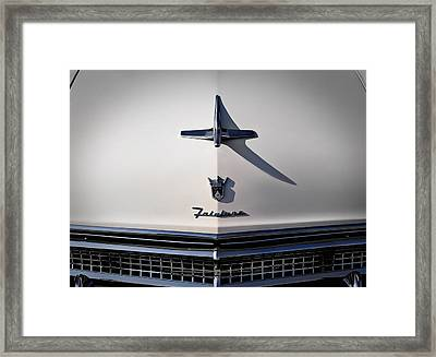 Vintage Ford Fairlane Hood Ornament Framed Print by Douglas Pittman