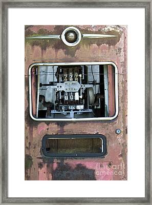 Vintage Gas Pump Framed Print by Alan Look