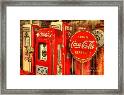 Vintage Gasoline Pumps 2 Framed Print by Bob Christopher