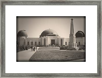 Vintage Griffith Framed Print by Ricky Barnard